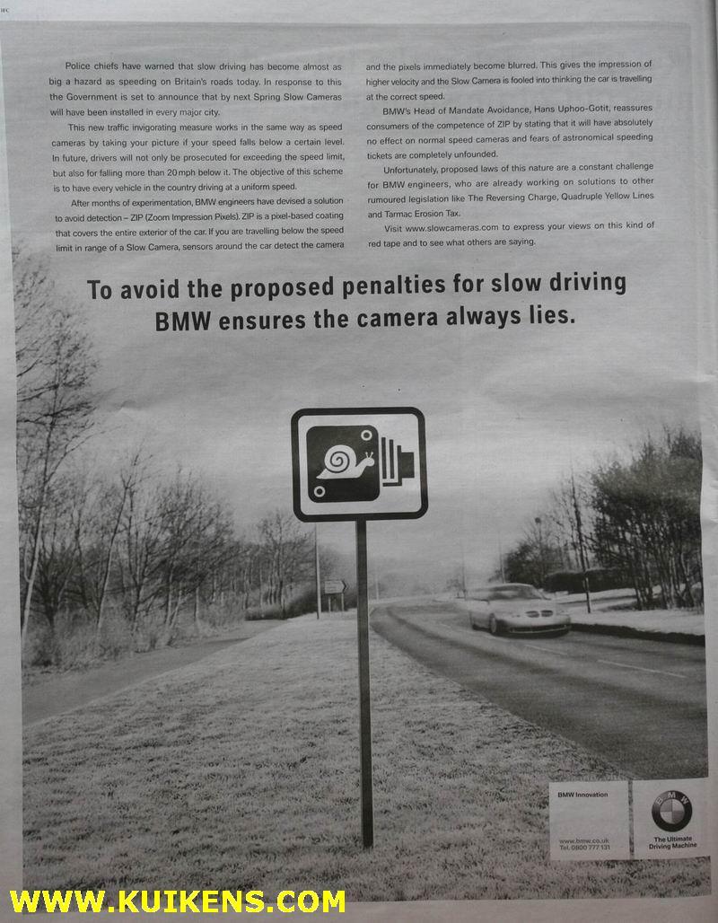 BMW Newspaper Ad